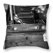 Kodak Folding Autographic Brownie 2-a Black And White Throw Pillow by Kaye Menner