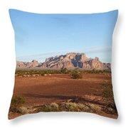Kofa Mountains With Wild Palm Trees Throw Pillow