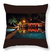 Koh Samui Beach Resort Throw Pillow