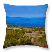 Kohala Coast Panorama Throw Pillow