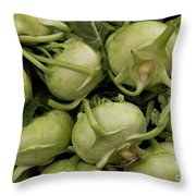 Kohlrabi Throw Pillow