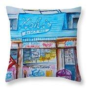 Kohrs Frozen Custard Throw Pillow