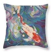Koi 1 Pond Series Throw Pillow