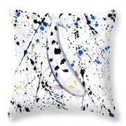 Koi Bekko Splash Throw Pillow