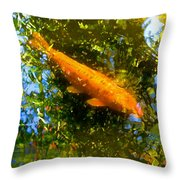 Koi Fish 1 Throw Pillow