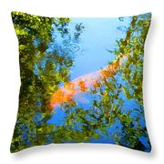 Koi Fish 3 Throw Pillow