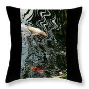 Koi In A Pond Throw Pillow