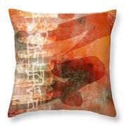 Koi In Orange Throw Pillow