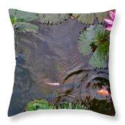 Koi. Lotus. Phu Quoc. Vietnam. Throw Pillow