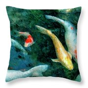 Koi Pond 2 Throw Pillow