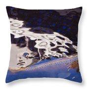 Koi Pond Abstract Throw Pillow