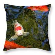 Koi Pond Throw Pillow