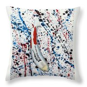 Koi Shusui Splash Throw Pillow