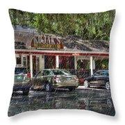 Kojak's House Of Ribs Throw Pillow
