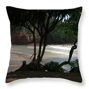 Koki Beach Hana Maui Hawaii Throw Pillow
