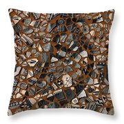 Kokopelli Throw Pillow by Jerry McElroy