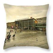 Koln Hauptbahnhof  Throw Pillow