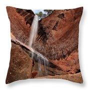 Kolob Canyons Falling Waters Throw Pillow