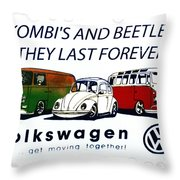 Kombis And Beetles Last Forever Throw Pillow