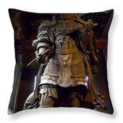Komokuten Guardian King - Nara Japan Throw Pillow