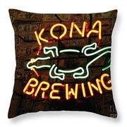 Kona Brewing Company Throw Pillow