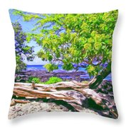 Kona Coast Throw Pillow