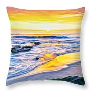 Kona Coast Sunset Throw Pillow