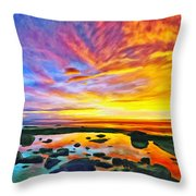 Kona Tidepool Reflections Throw Pillow