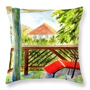 Kona View From The Deck Throw Pillow