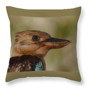 Kookaburra Portrait Throw Pillow