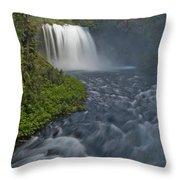 Koosah Falls Throw Pillow