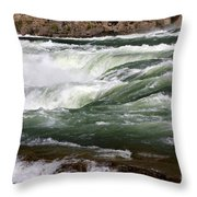 Kootenai Falls Throw Pillow
