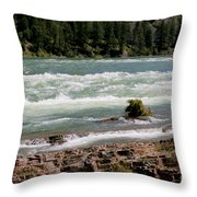 Kootenai Falls Montana Throw Pillow