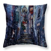 Korcula - Old Town - Croatia Throw Pillow