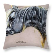 Kordelas Polish Arabian Horse Soft Pastel Throw Pillow