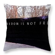 Korean War Veterans Memorial Freedom Is Not Free Throw Pillow