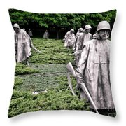 Korean War Veterans Memorial Throw Pillow by Olivier Le Queinec
