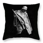 Korean War Veterans Memorial Rifleman Throw Pillow
