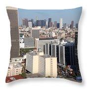 Koreatown Area Of Los Angeles California Throw Pillow