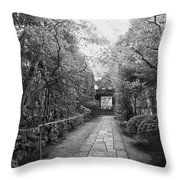 Koto-in Temple Stone Path Throw Pillow by Daniel Hagerman