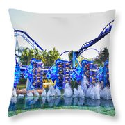 Kraken Dunk Throw Pillow