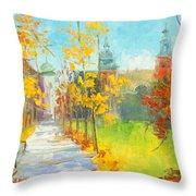 Krakow - Autumn Throw Pillow