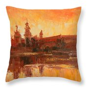 Krakow - Wawel Impression Throw Pillow