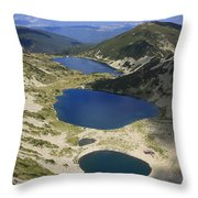 Kremenski Lakes Pirin National Park Bulgaria  Throw Pillow