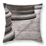 Krepis And Stylobates Throw Pillow