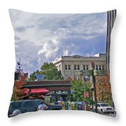 Kress Building Asheville Throw Pillow