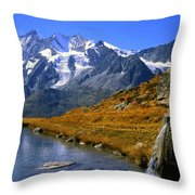 Kreuzboden Lake Throw Pillow