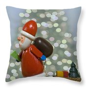 Kris Kringle Throw Pillow by Juli Scalzi
