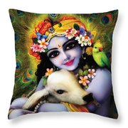Krishna Gopal Throw Pillow