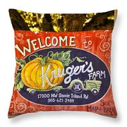 Kruger's Farm Throw Pillow